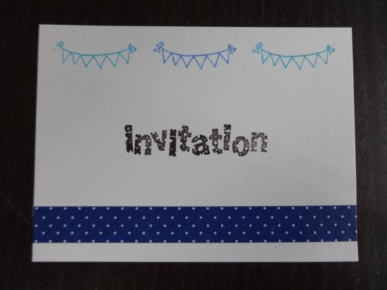 Carton invitation anniversaire - recto