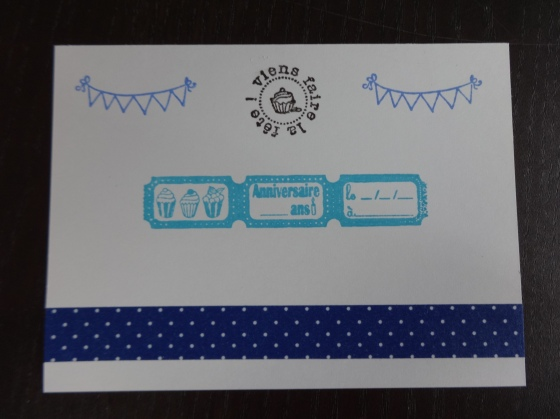 Carton invitation anniversaire - verso