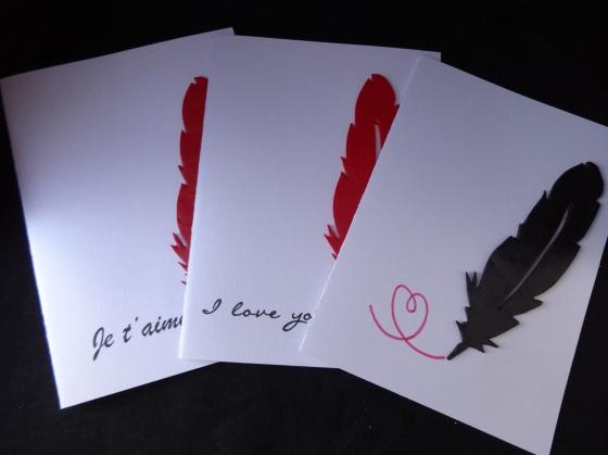 """Cartes """"J'écris à la plume"""""""